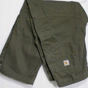 Carhartt relaxed fit 40x30 green carpenters pants